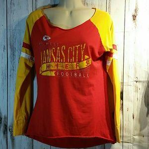 Woman's Kansas city Chiefs tshirt size M